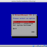 Screenshot of nmtui main menu.