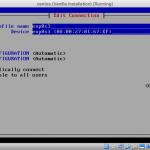 Screenshot of nmtui Edit Connection screen.