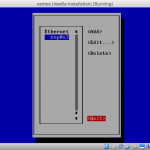 Screenshot of nmtui Edit Connection (interfacce select) screen with Quit button selected.