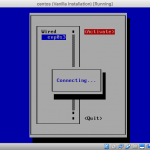 Screenshot of nmtui while activating interface.
