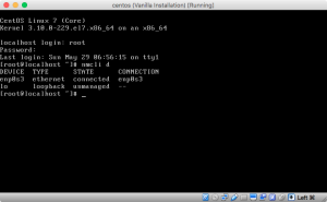Screenshot of nmcli in connected state.