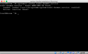 Screenshot of systemctl status avahi-daemon.service right after installation